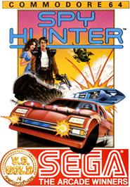 Box cover for Spy Hunter on the Commodore 64.