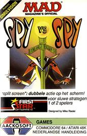 Box cover for Spy vs Spy on the Commodore 64.
