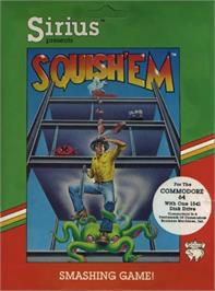Box cover for Squish 'Em on the Commodore 64.