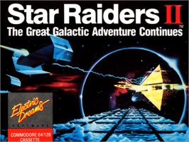Box cover for Star Raiders II on the Commodore 64.