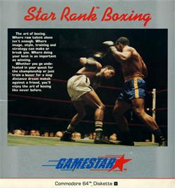 Box cover for Star Rank Boxing on the Commodore 64.