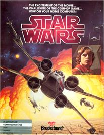 Box cover for Star Wars: The Arcade Game on the Commodore 64.