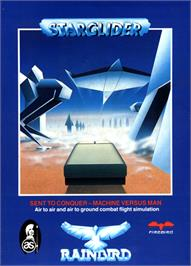 Box cover for Starglider on the Commodore 64.