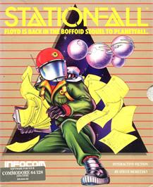 Box cover for Stationfall on the Commodore 64.