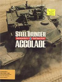 Box cover for Steel Thunder on the Commodore 64.