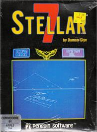 Box cover for Stellar 7 on the Commodore 64.