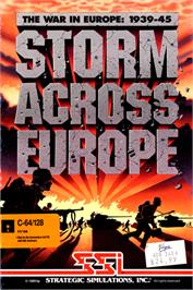Box cover for Storm Across Europe on the Commodore 64.