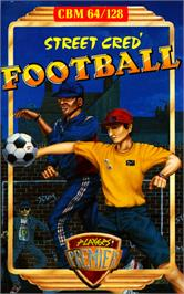 Box cover for Street Cred Football on the Commodore 64.