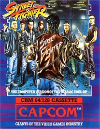 Box cover for Street Fighter on the Commodore 64.