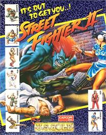Box cover for Street Fighter II on the Commodore 64.