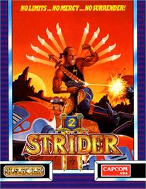 Box cover for Strider 2 on the Commodore 64.
