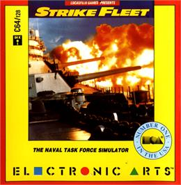 Box cover for Strike Fleet on the Commodore 64.