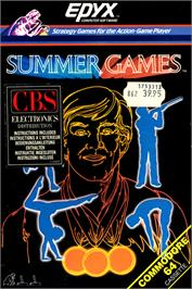 Box cover for Summer Games on the Commodore 64.