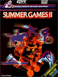 Box cover for Summer Games II on the Commodore 64.