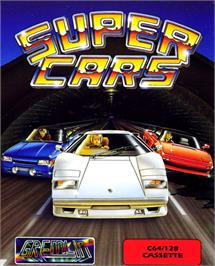 Box cover for Super Cars on the Commodore 64.