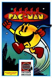 Box cover for Super Pac-Man on the Commodore 64.