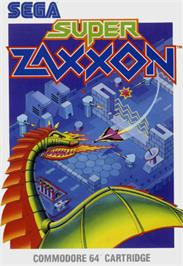 Box cover for Super Zaxxon on the Commodore 64.