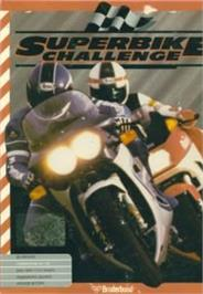 Box cover for Superbike Challenge on the Commodore 64.