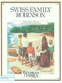 Box cover for Swiss Family Robinson on the Commodore 64.