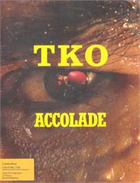 Box cover for TKO on the Commodore 64.