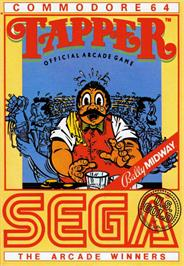 Box cover for Tapper on the Commodore 64.