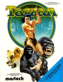 Box cover for Tarzan on the Commodore 64.