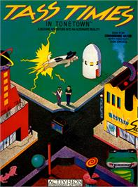 Box cover for Tass Times in Tonetown on the Commodore 64.