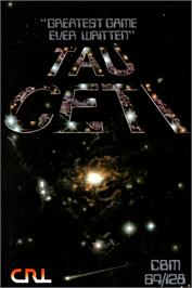 Box cover for Tau Ceti on the Commodore 64.