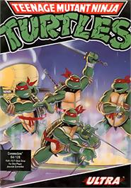 Box cover for Teenage Mutant Ninja Turtles on the Commodore 64.