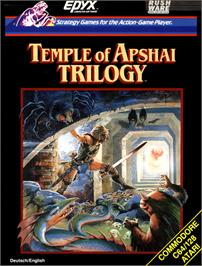 Box cover for Temple of Apshai Trilogy on the Commodore 64.