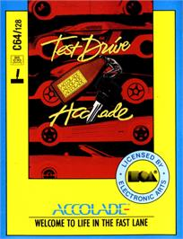 Box cover for Test Drive on the Commodore 64.
