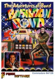 Box cover for The Adventures of Bond... Basildon Bond on the Commodore 64.