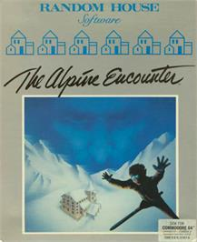 Box cover for The Alpine Encounter on the Commodore 64.