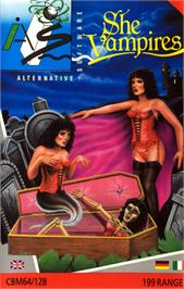 Box cover for The Astonishing Adventures of Mr. Weems and the She Vampires on the Commodore 64.
