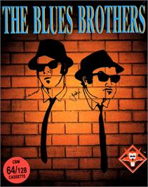 Box cover for The Blues Brothers on the Commodore 64.