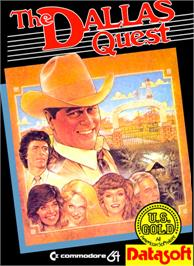 Box cover for The Dallas Quest on the Commodore 64.