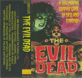Box cover for The Evil Dead on the Commodore 64.