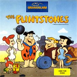 Box cover for The Flintstones on the Commodore 64.