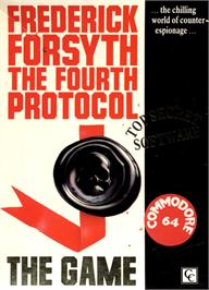 Box cover for The Fourth Protocol on the Commodore 64.