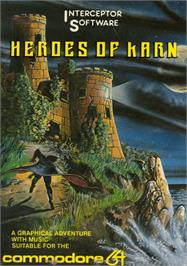 Box cover for The Heroes of Karn on the Commodore 64.