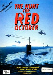 Box cover for The Hunt for Red October on the Commodore 64.
