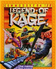 Box cover for The Legend of Kage on the Commodore 64.