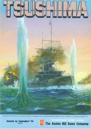 Box cover for The Naval Battle of Tsushima on the Commodore 64.