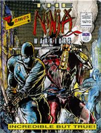 Box cover for The Ninja Warriors on the Commodore 64.