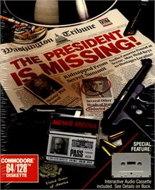 Box cover for The President is Missing on the Commodore 64.