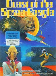 Box cover for The Quest of the Space Beagle on the Commodore 64.