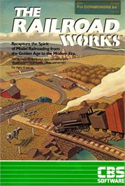 Box cover for The Railroad Works on the Commodore 64.