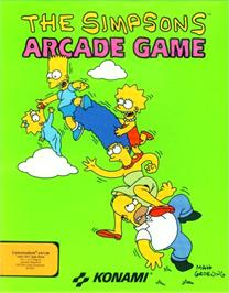 Box cover for The Simpsons Arcade Game on the Commodore 64.