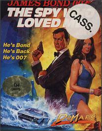 Box cover for The Spy Who Loved Me on the Commodore 64.