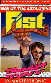 Box cover for The Way of the Exploding Fist on the Commodore 64.